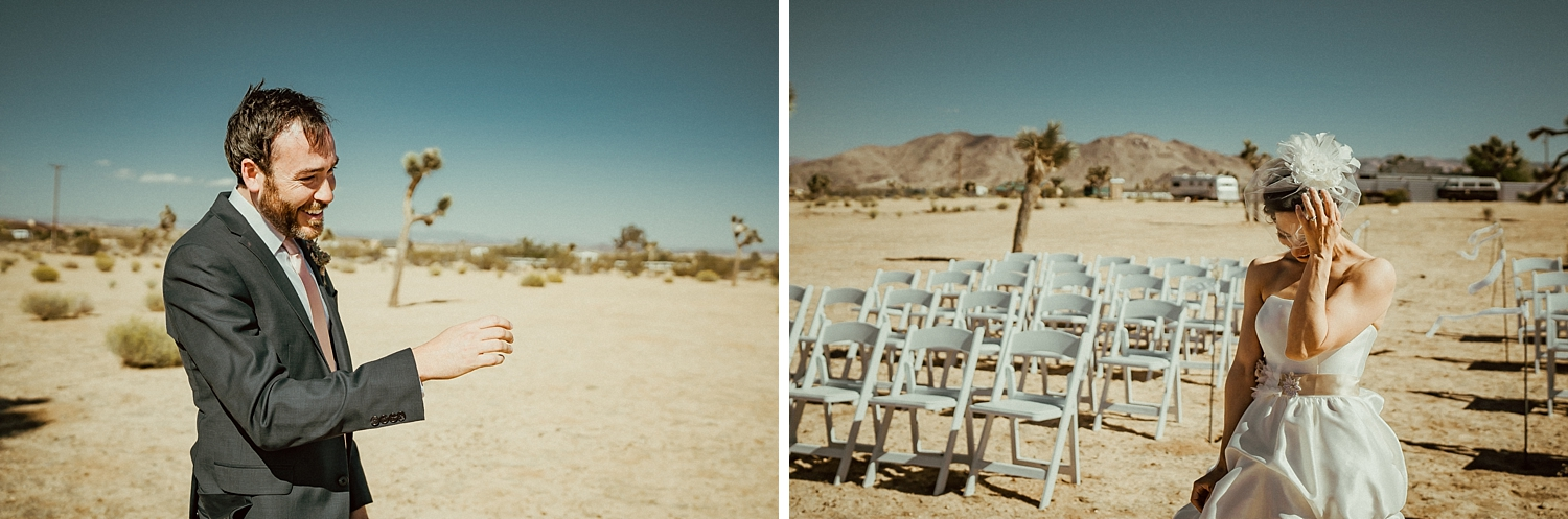 Joshua Tree Wedding Photos | First Look Photos