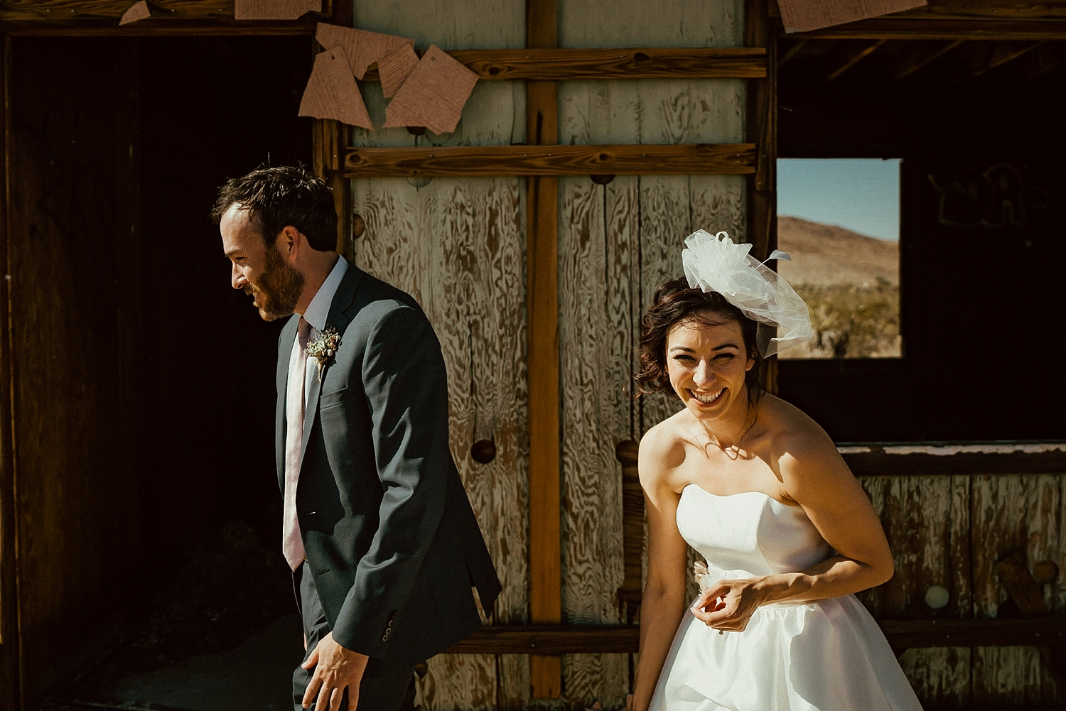 Joshua Tree Wedding Photos | Bride Groom Portraits
