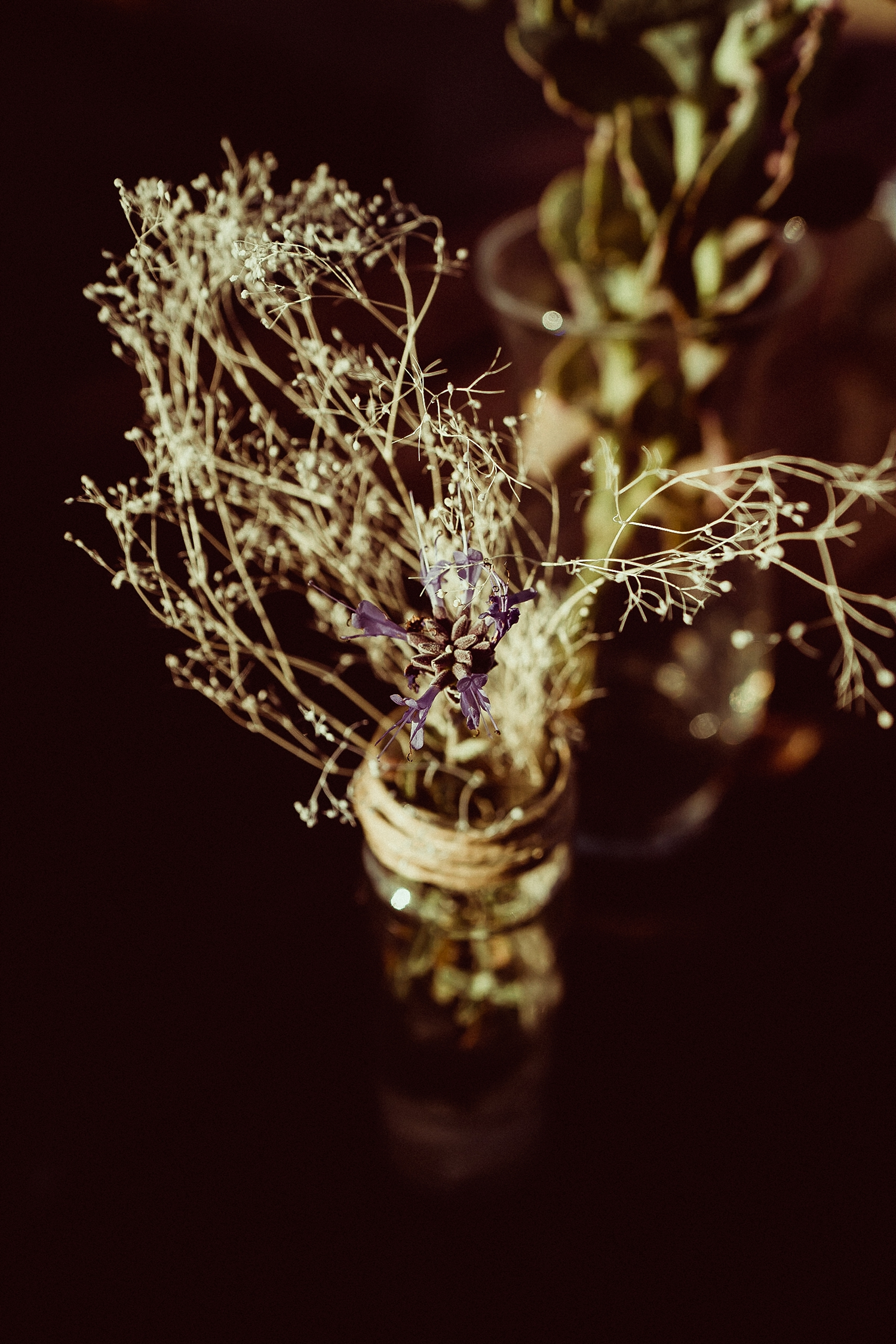 DIY wedding center pieces | Dried Flower Center Pieces