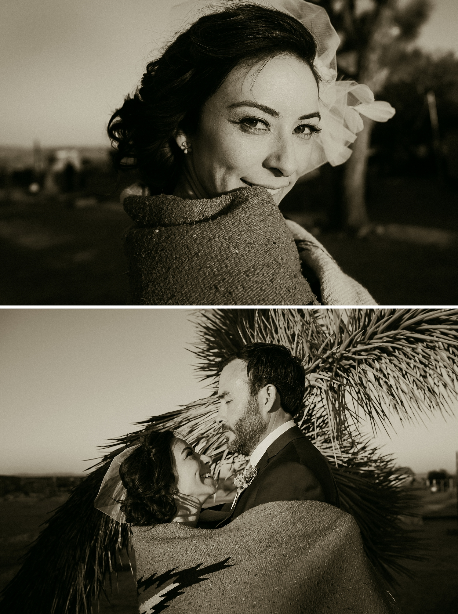 Vintage Birdcage Veil | Joshua Tree Bride Photos
