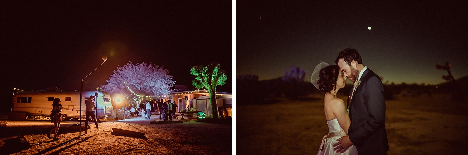 Joshua Tree Night Wedding Photos