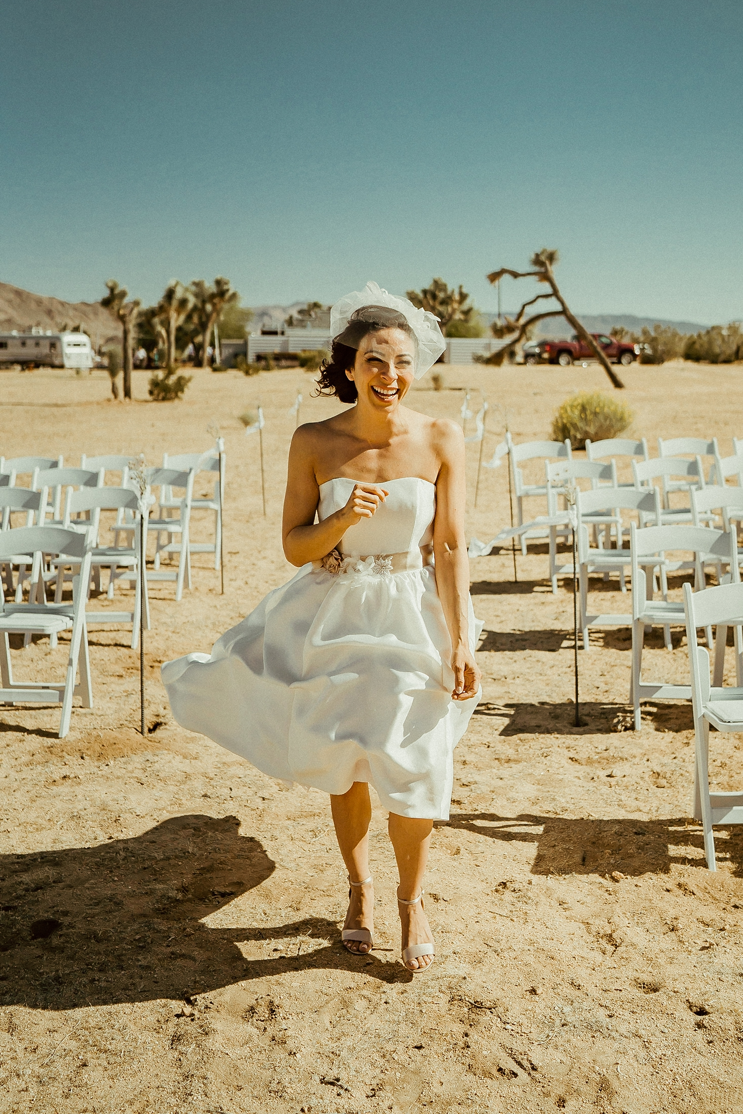 Joshua Tree Wedding Photos | Birdcage Veil